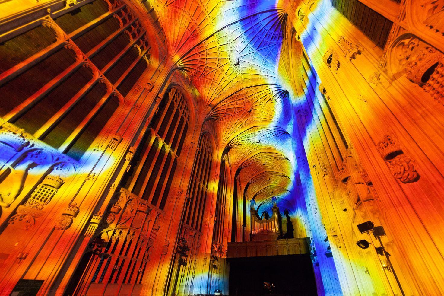 Immersive Projections in King's College Chapel, University of Cambridge (3)
