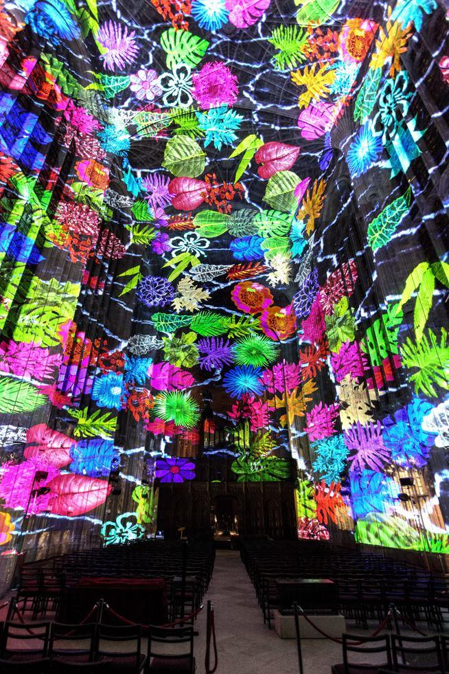 Immersive Projections in King's College Chapel, University of Cambridge (5)