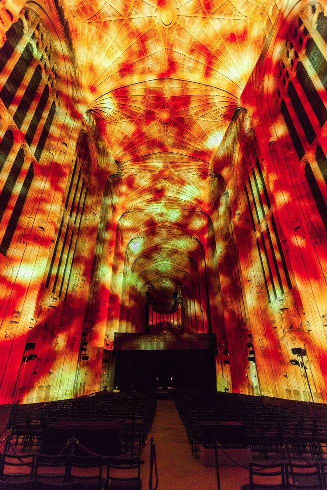 Immersive Projections in King's College Chapel, University of Cambridge (6)