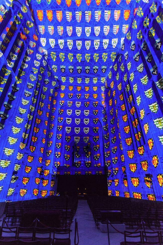 Immersive Projections in King's College Chapel, University of Cambridge (7)