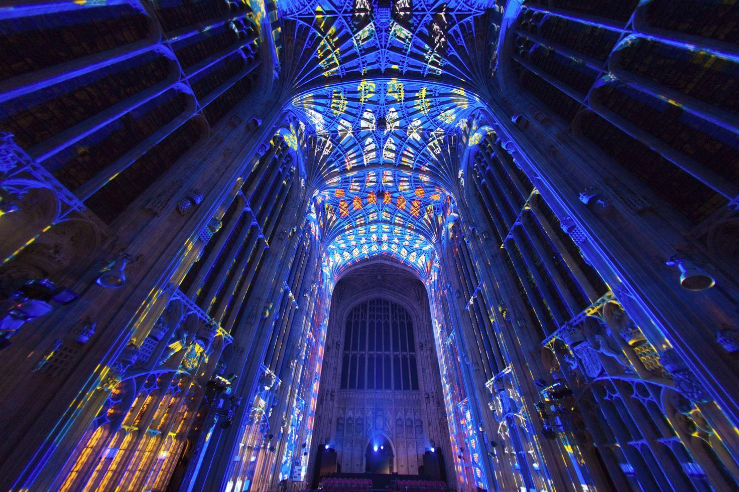 Immersive Projections in King's College Chapel, University of Cambridge (9)