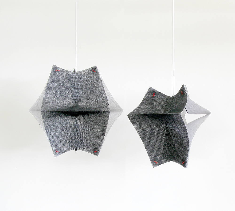 Lighting Fixtures Made of Buckram Fabric - Se'Paar by Taeg Nishimoto (1)