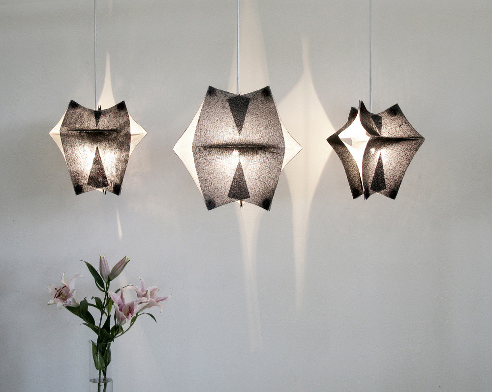 Lighting Fixtures Made of Buckram Fabric - Se'Paar by Taeg Nishimoto (10)