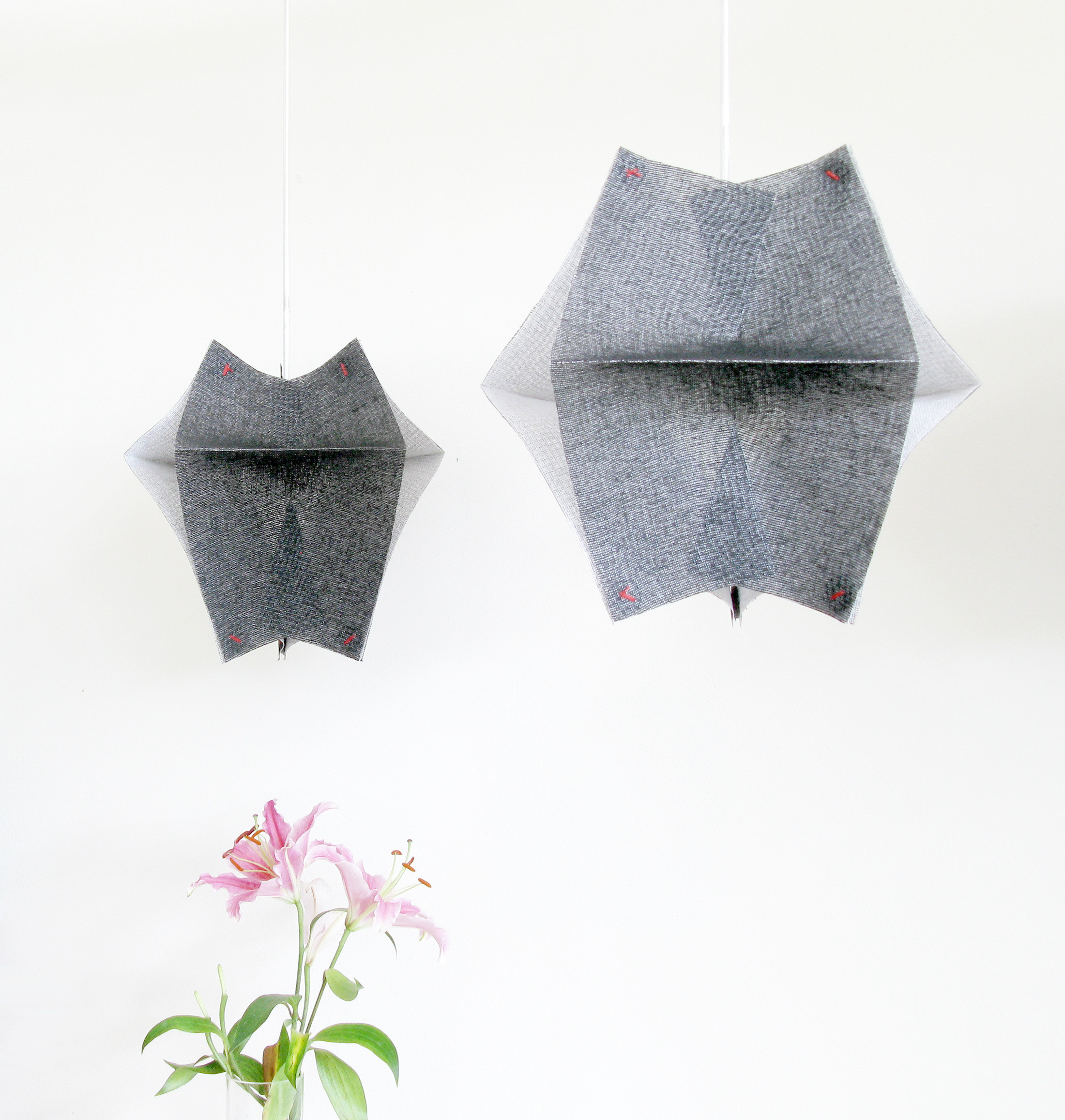 Lighting Fixtures Made of Buckram Fabric - Se'Paar by Taeg Nishimoto (11)