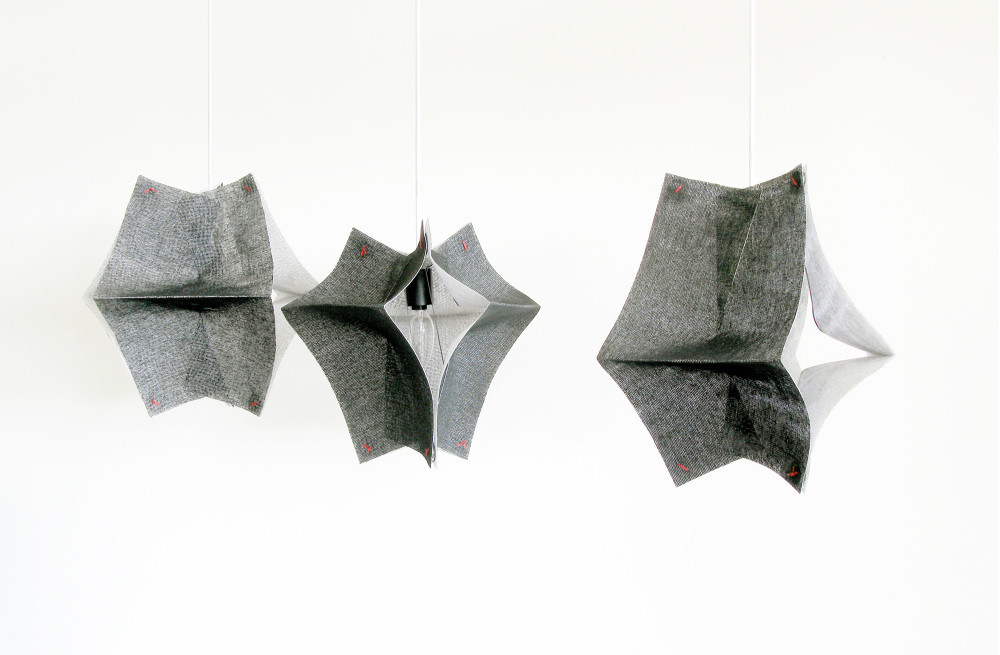 Lighting Fixtures Made of Buckram Fabric - Se'Paar by Taeg Nishimoto (2)