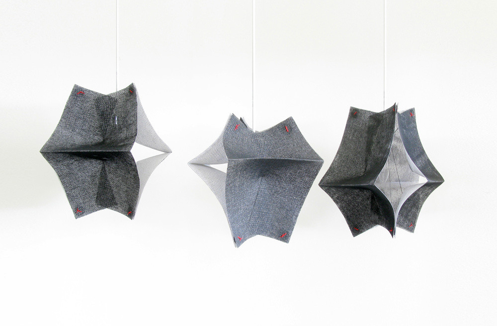Lighting Fixtures Made of Buckram Fabric - Se'Paar by Taeg Nishimoto (3)