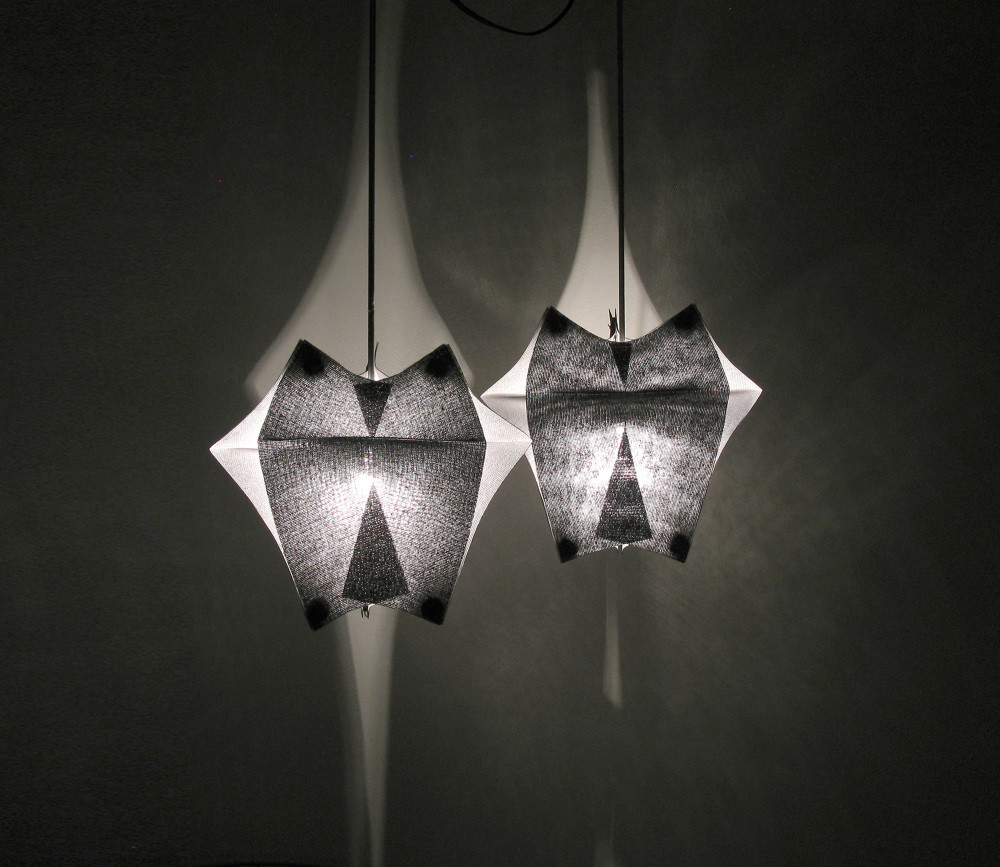 Lighting Fixtures Made of Buckram Fabric - Se'Paar by Taeg Nishimoto (4)