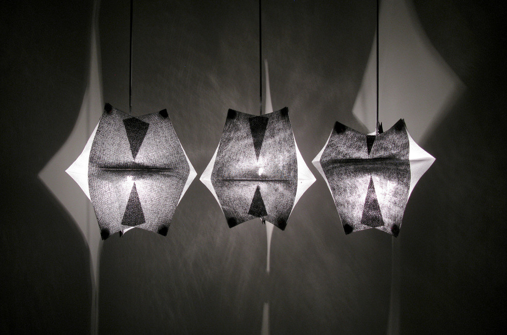 Lighting Fixtures Made of Buckram Fabric - Se'Paar by Taeg Nishimoto (6)