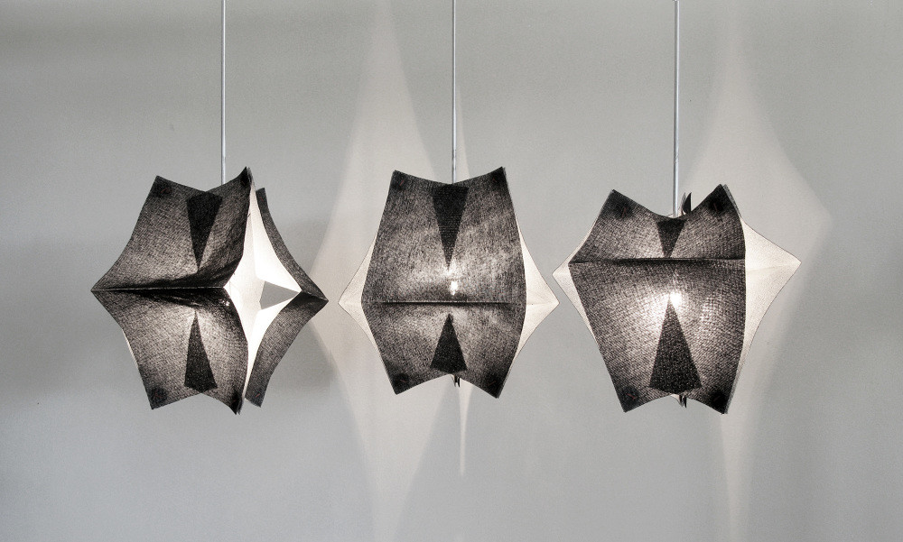 Lighting Fixtures Made of Buckram Fabric - Se'Paar by Taeg Nishimoto (7)
