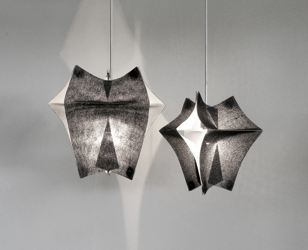 Lighting Fixtures Made of Buckram Fabric - Se'Paar by Taeg Nishimoto (8)