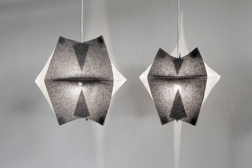 Lighting Fixtures Made of Buckram Fabric - Se'Paar by Taeg Nishimoto (9)