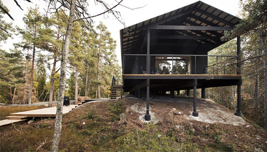 Single Story Vacation House on an Island in the Stockholm Archipelago (1)