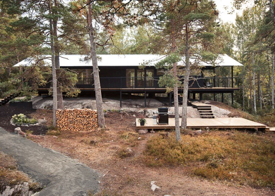 Single Story Vacation House on an Island in the Stockholm Archipelago (15)