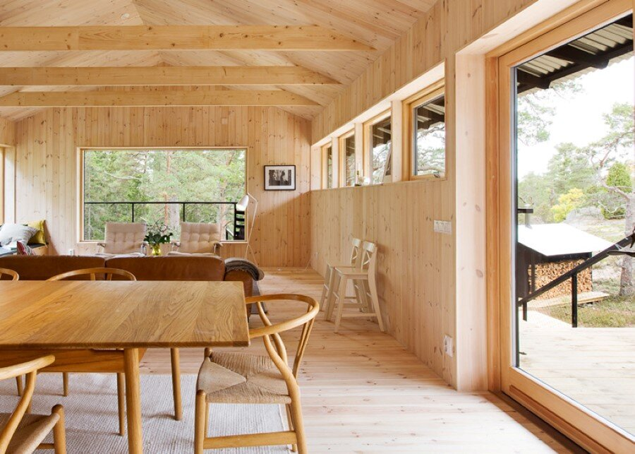 Single Story Vacation House on an Island in the Stockholm Archipelago (16)