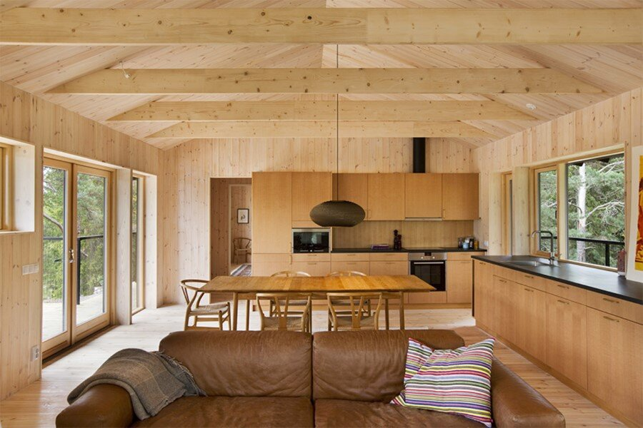 Single Story Vacation House on an Island in the Stockholm Archipelago (6)
