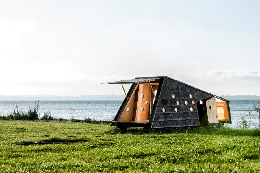Wooden Shelters and Campsites on the Danish Coast