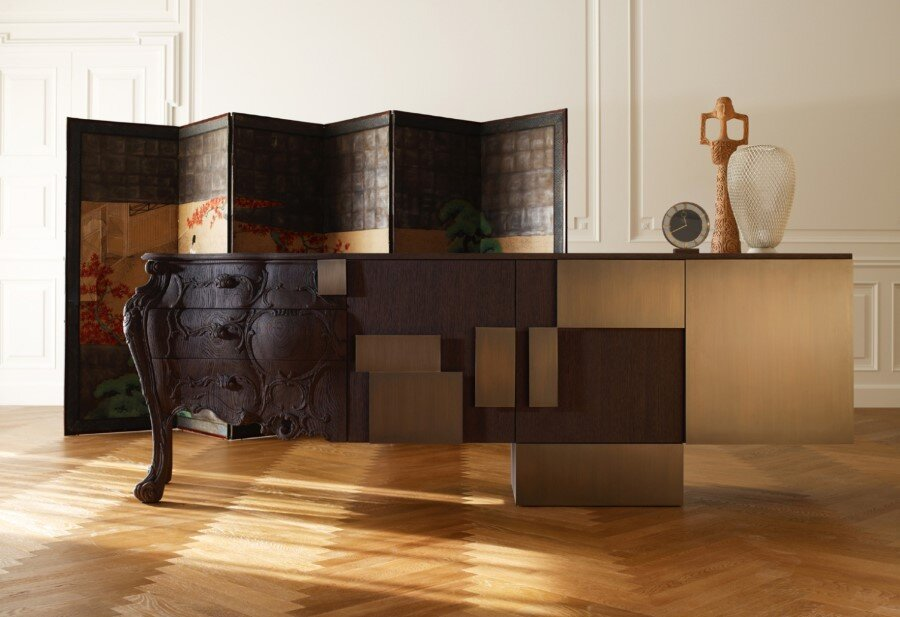 Evolution Sideboard Made by Combining Old and Modern Woodcraft (1)