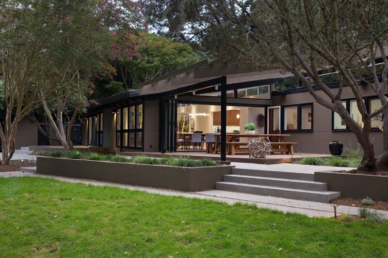 Mid century modern house remodeled for a family of five for Mid century modern house plan