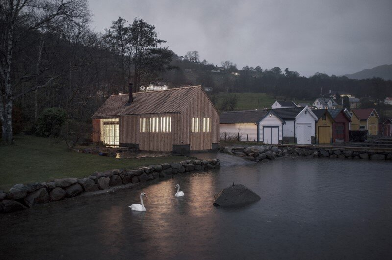 Old boat house converted into recreational space (14)