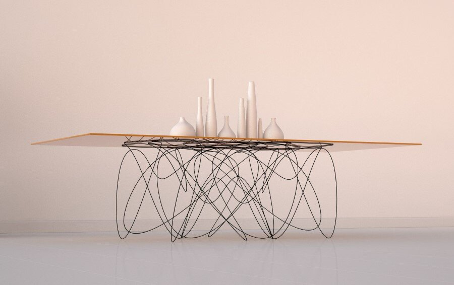 Quantum Table is Inspired by the Motion of Subatomic Particles (2) (Custom)