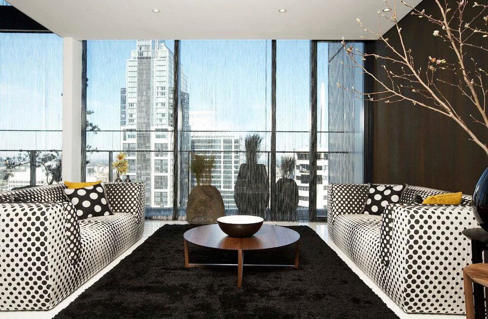 Sky penthouse in lumi re building skyscraper sydney for Imagenes de salas modernas y elegantes