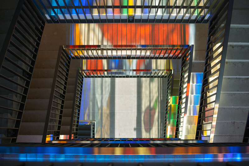 Two Stained Glass Facades Decorate a New Residential Project in Amsterdam (10)