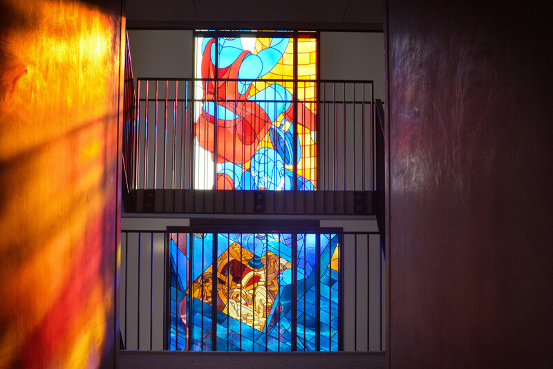 Two Stained Glass Facades Decorate a New Residential Project in Amsterdam (12)