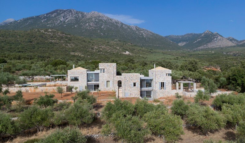 Greek Villa Elements of the Historic Houses into a Modern Context (2)