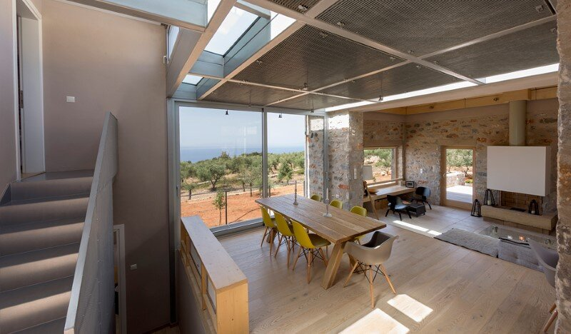Greek Villa Elements of the Historic Houses into a Modern Context (6)