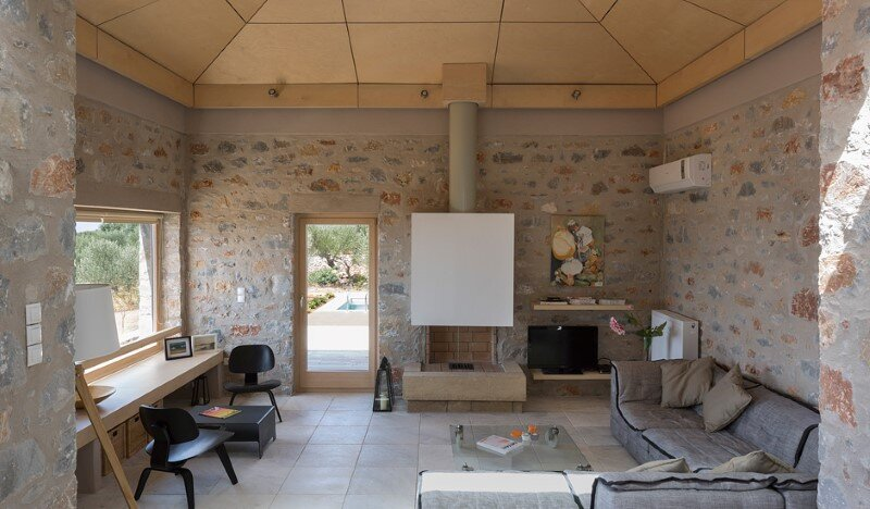 Greek Villa Elements of the Historic Houses into a Modern Context (7)