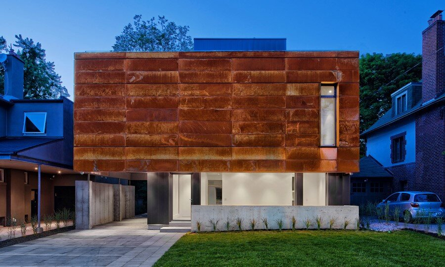 Heathdale Residence - smart home encased in Cor-Ten steel panels (1)