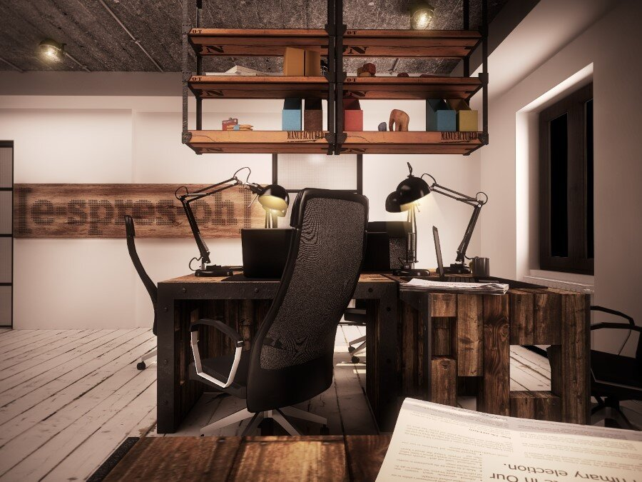 IT Office industrial style interiors designed by Ezzo Design (1)