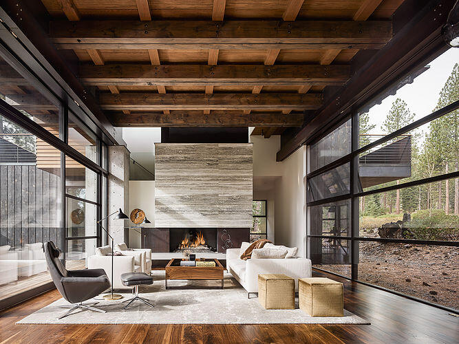 Martis Camp House in Northstar California by Faulkner Architects (5)