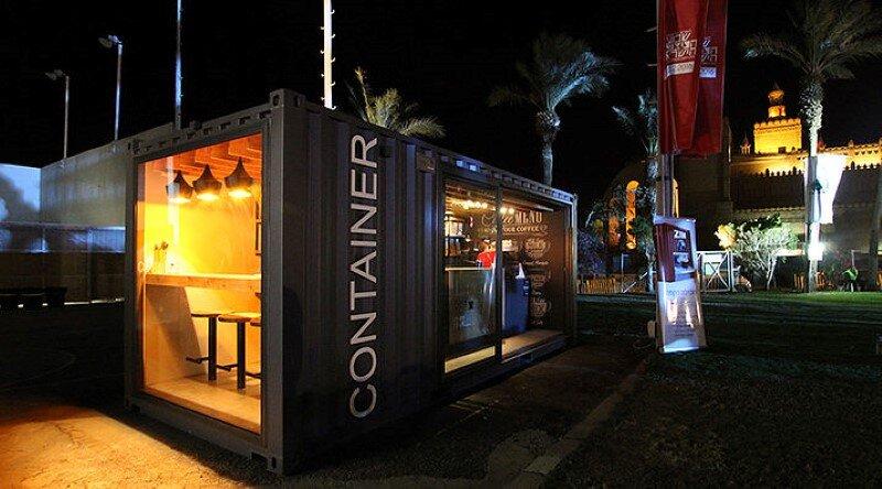 Mobile coffee shop built in five weeks for a design for Design shop mobel