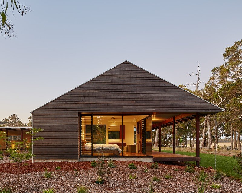 Modern australian farm house with passive solar design for Farm house plans with photos