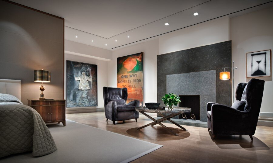 New York Penthouse Loft Displays A Beautiful Collection Of Art