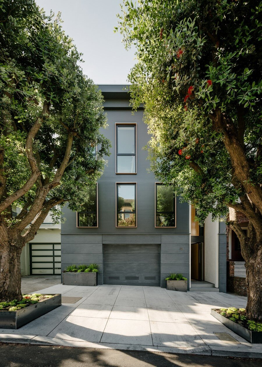 Unconventional three story atrium house in san francisco for San francisco home design
