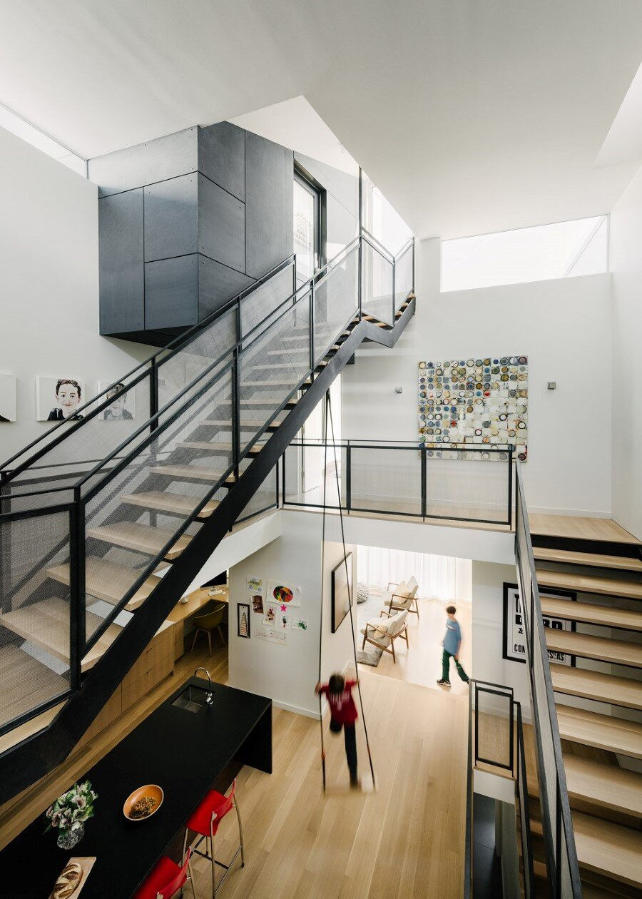 Unconventional Three-Story Atrium House in San Francisco (9)