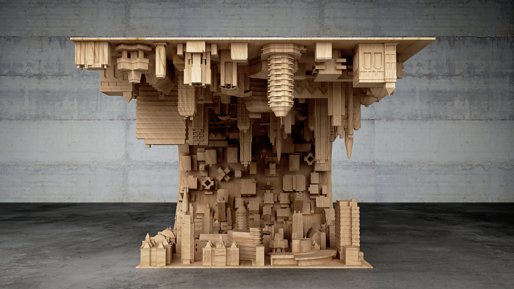 Wave City Coffee Table Inspired by the Movie Inception (2)