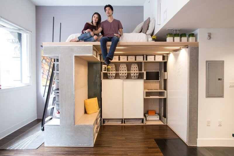 Small Condo Transformed into a Dynamic Space: Domino Loft