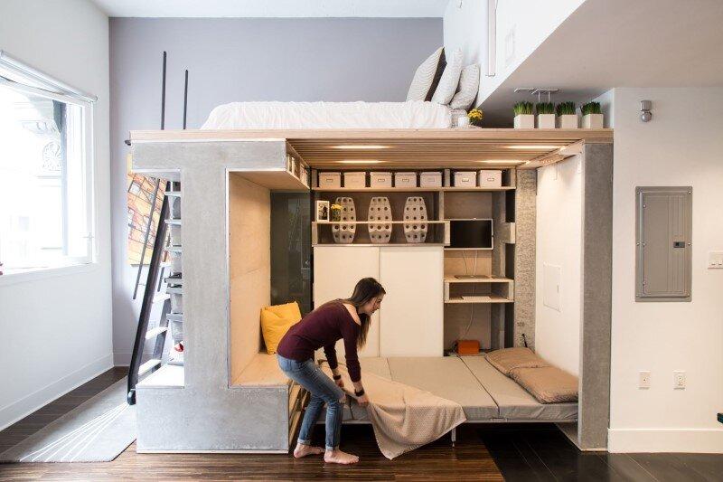 Domino Loft Small Condo Transformed into a Dynamic Space (6)