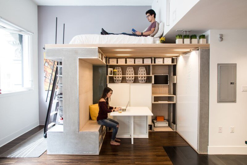Domino Loft Small Condo Transformed into a Dynamic Space (7)