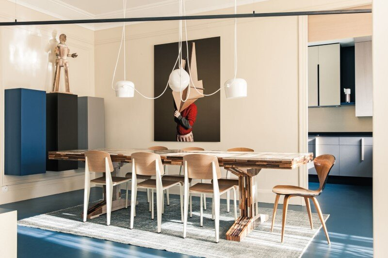 French Metal Rack: Renovation of Family Apartment in Paris