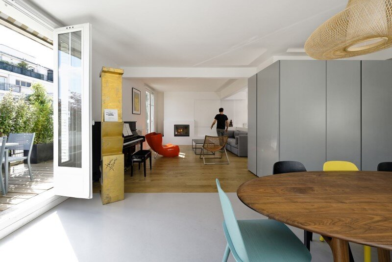 Maisonette Apartment by Ulli Heckmann and Eitan Hammer Paris (5)