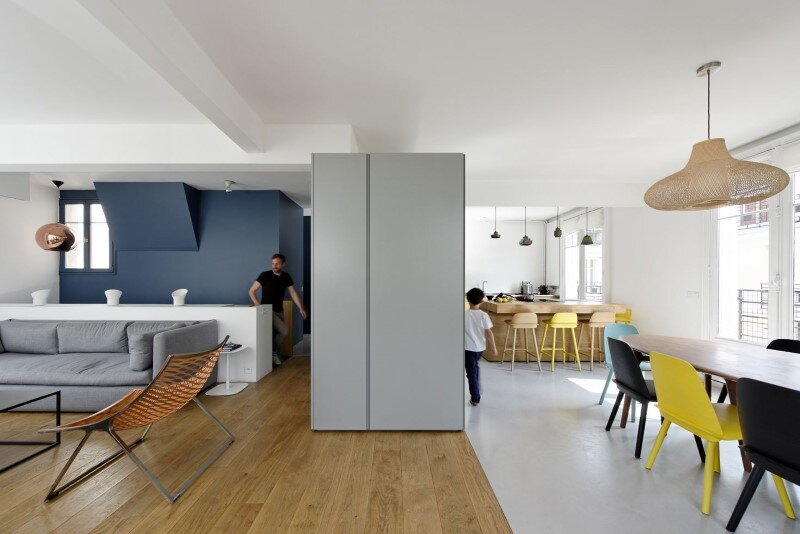 Maisonette Apartment by Ulli Heckmann and Eitan Hammer Paris (6)
