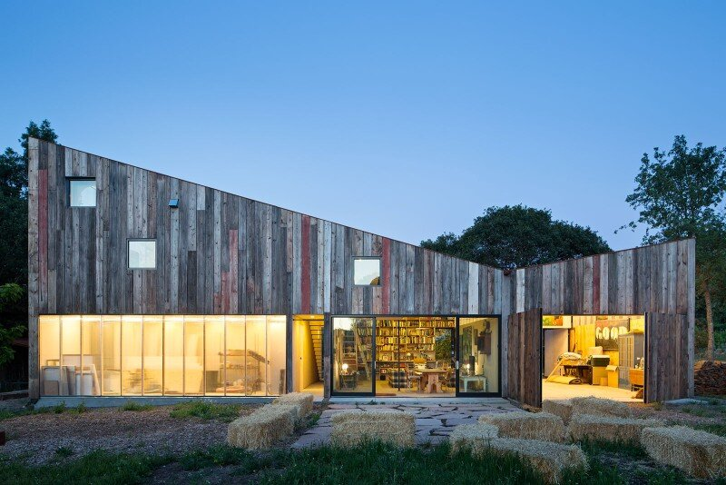 Meier Road Barn Architect: SFOSL Location: Sebastapol, California