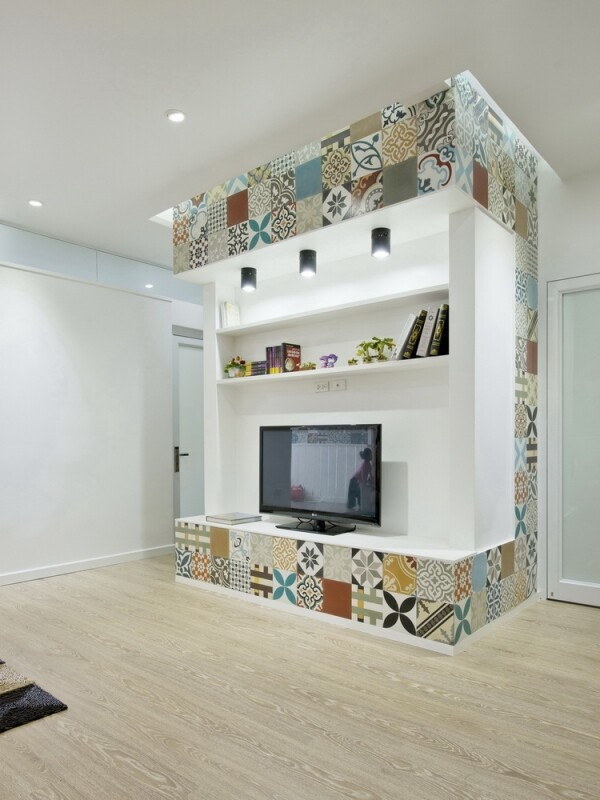 Ceramic Tiles Used as a Decorative Material - HT Apartment in Vietnam (10)