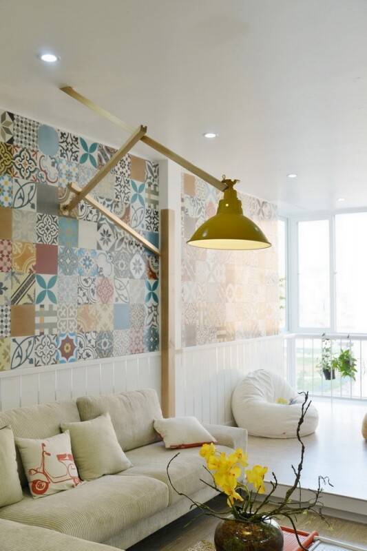 Ceramic Tiles Used as a Decorative Material - HT Apartment in Vietnam (13)