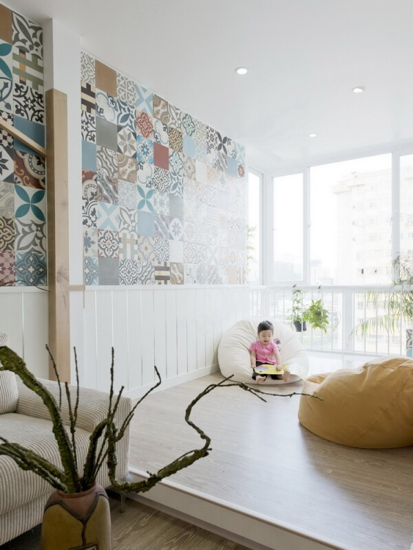 Ceramic Tiles Used as a Decorative Material - HT Apartment in Vietnam (14)