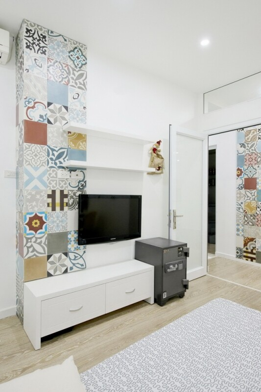 Ceramic Tiles Used as a Decorative Material - HT Apartment in Vietnam (8)